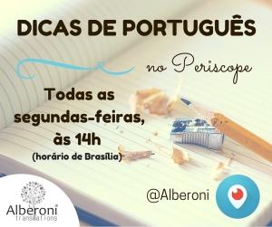 Dicas de Português no Periscope!