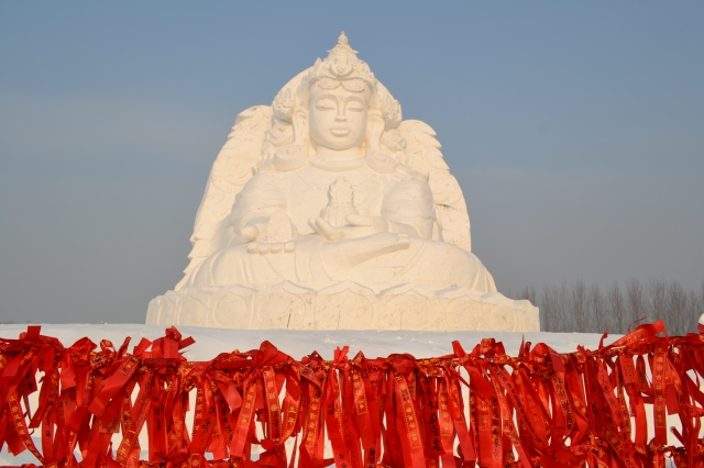 Snowbuddha in Harbin, China